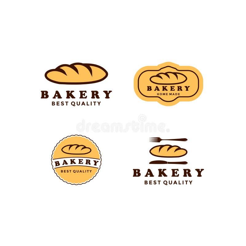 Set Vintage Retro Bakery / Bake Shop Label Sticker Logiciel vectoriel illustration libre de droits
