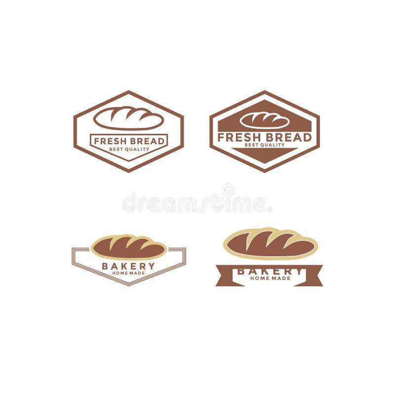Set Vintage Retro Bakery / Bake Shop Label Sticker Logiciel vectoriel illustration stock