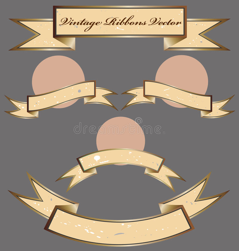 Download Set Of Vintage Ribbons Stock Photography - Image: 34393622