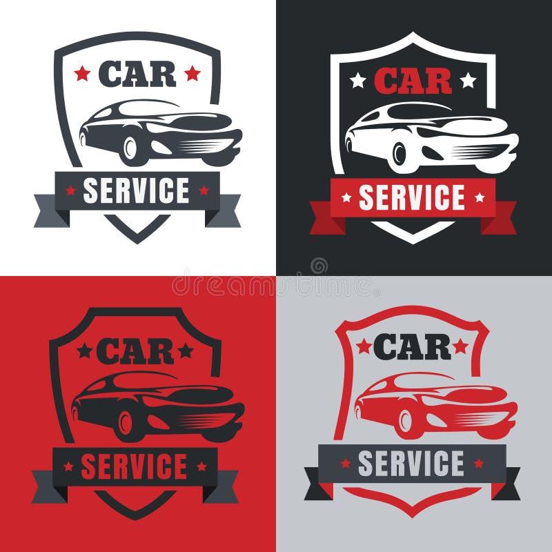 Set Of Vintage Style Car Service Label. Vector Logo Design Templ ...