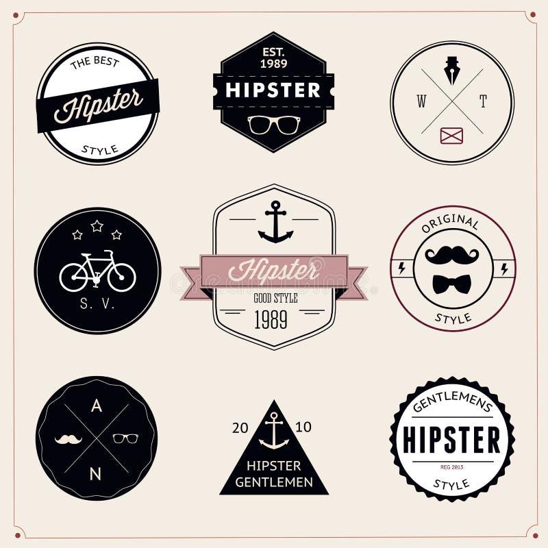 Set of vintage styled design hipster icons. Vector vector illustration