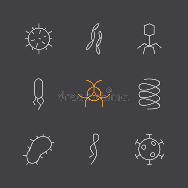Set of virus and bacteria icons. Vector illustration vector illustration