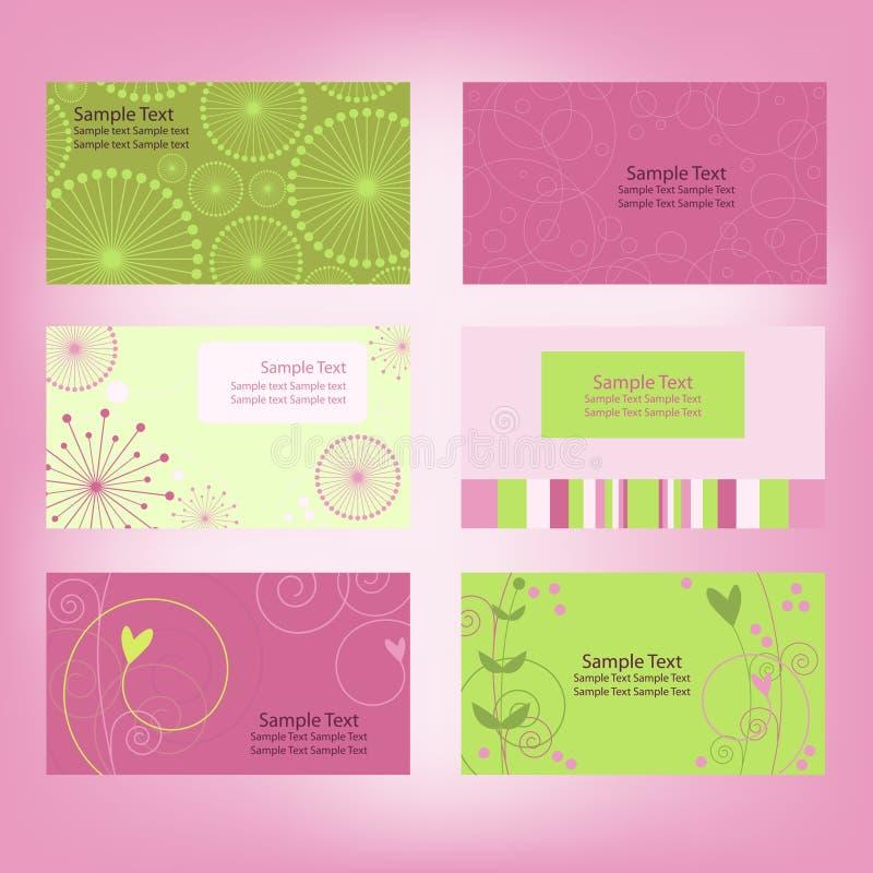 Set Visitenkarten lizenzfreie abbildung