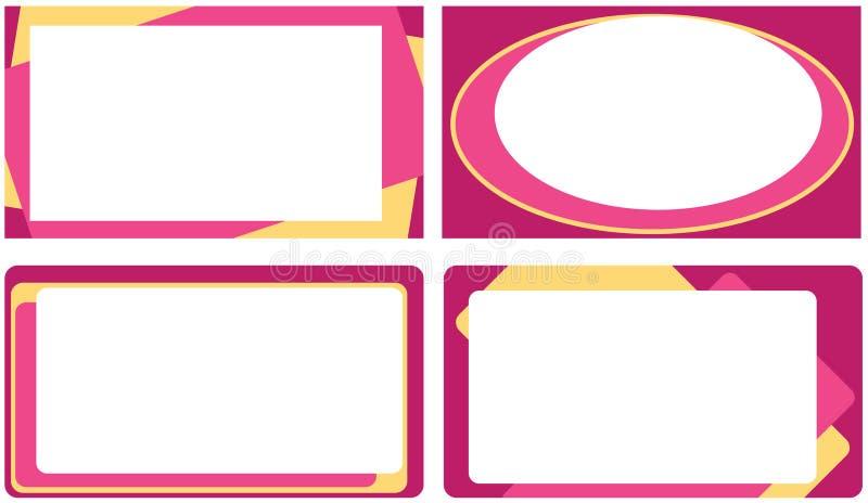 Set Visitenkarten vektor abbildung