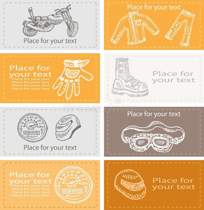 Set Visitenkarten ein stock abbildung