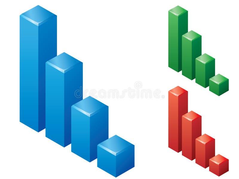 Set von 3 Diagrammen lizenzfreie abbildung