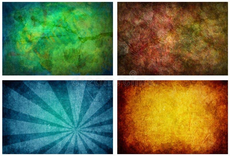 Set von 4 hohen Auflösung-Beschaffenheits-Hintergründen lizenzfreie abbildung