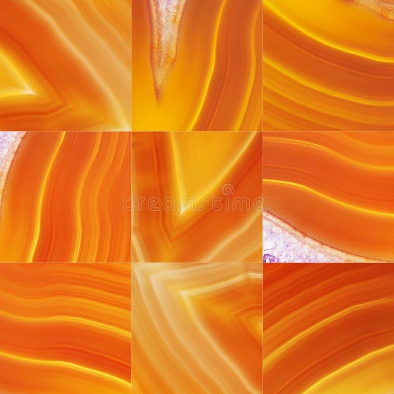 Set von Brown-Achat lizenzfreies stockfoto