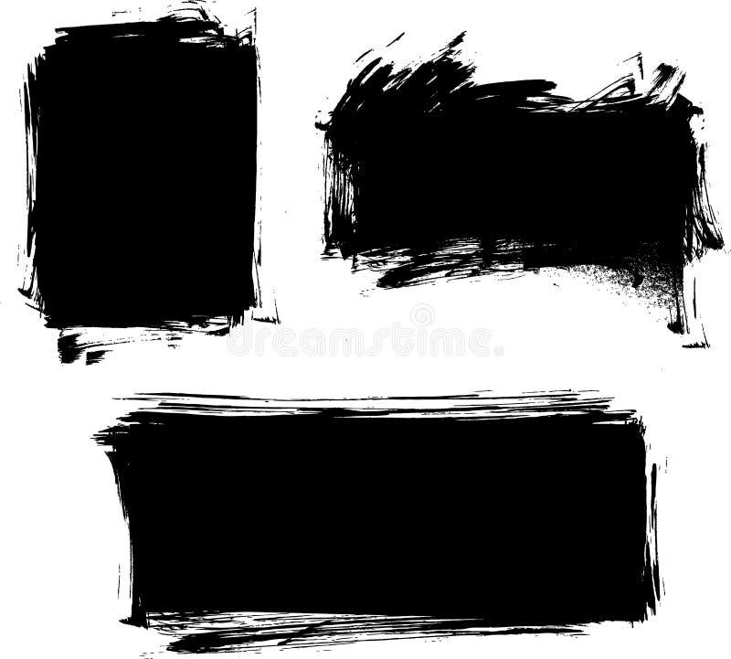 Set von drei Schmutzfahnen stock abbildung