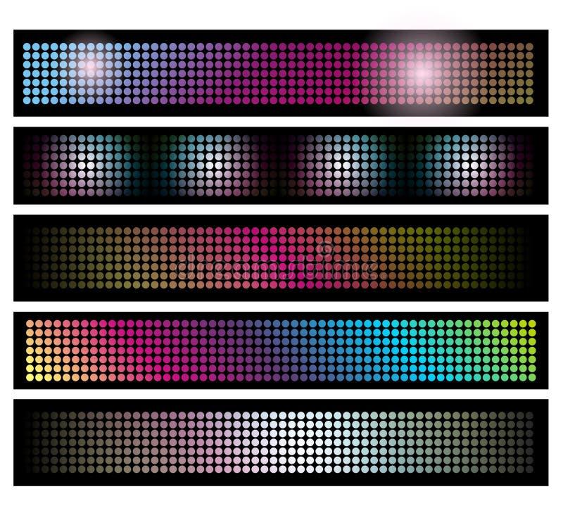 Set von LED beleuchtet Hintergrundfahnen vektor abbildung