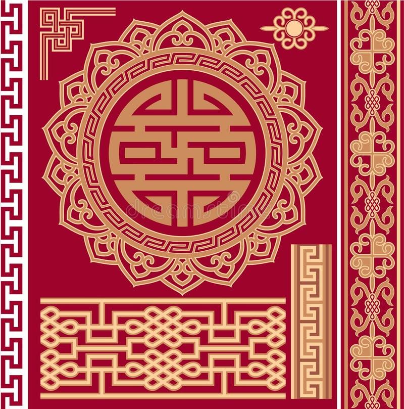 Set von Orientalen - Chinese - Auslegung-Elemente vektor abbildung