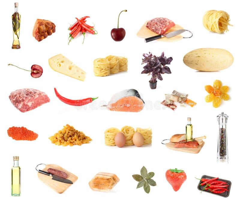 Set von ungefähr 27 Nahrungsmitteln lizenzfreies stockbild