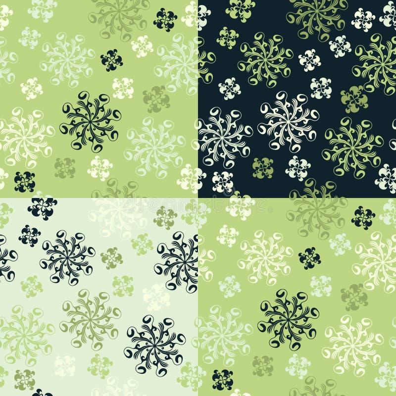 Set von vier nahtlosen Mustern vektor abbildung