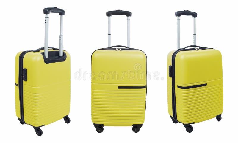 Set -- walizka odizolowywająca na białym tle obrazy royalty free