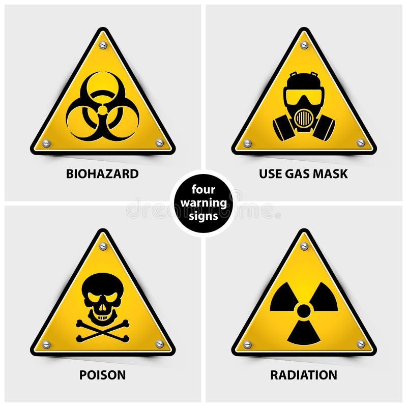Set Of Warning Signs Stock Vector Illustration Of Grey 113864435
