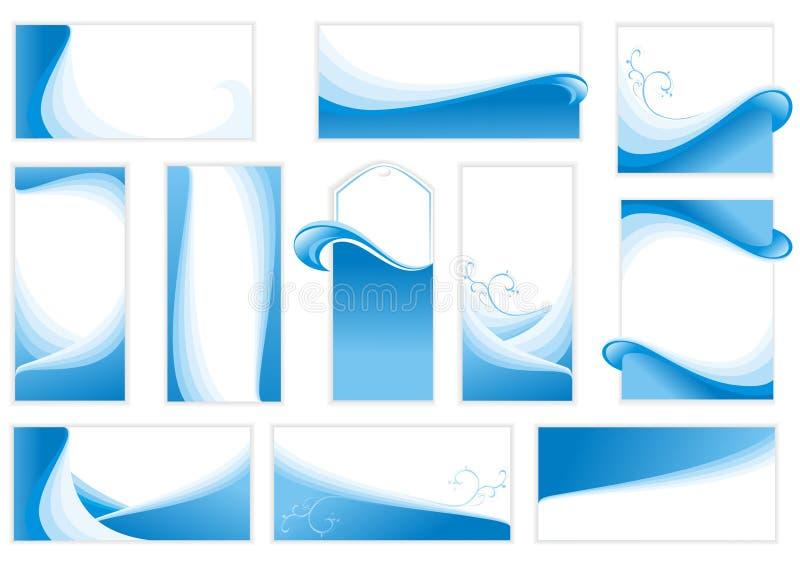 Set of water backgrounds. vector illustration