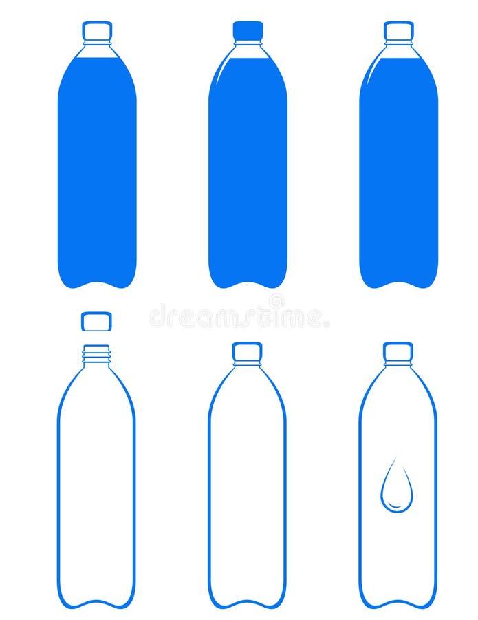 Set of water bottle royalty free illustration