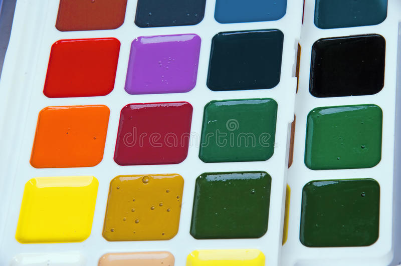 Set Water Colours Royalty Free Stock Photo