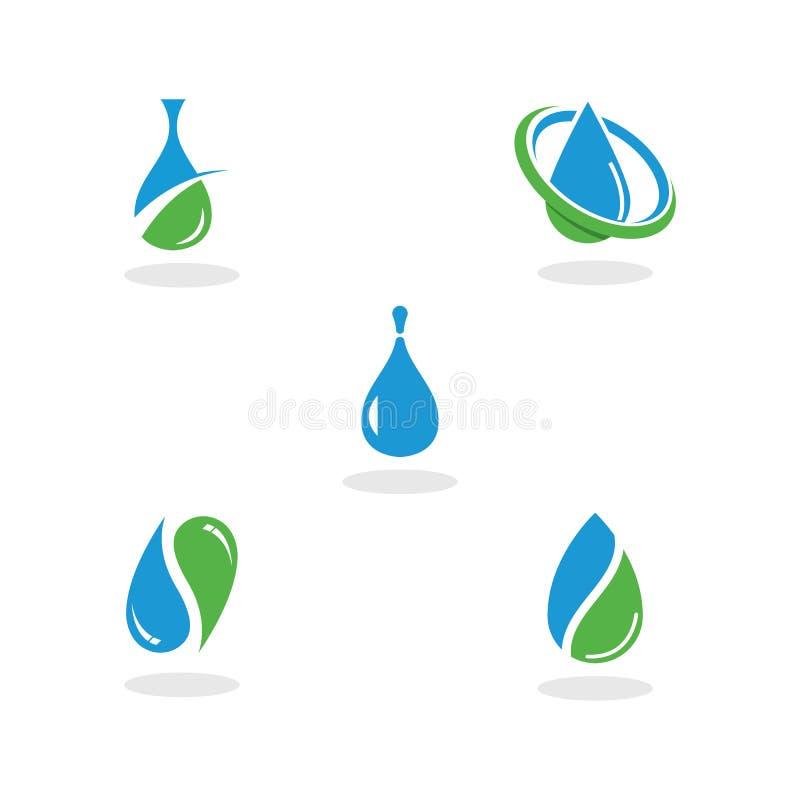 set of water drop logo and symbol design vector. royalty free illustration