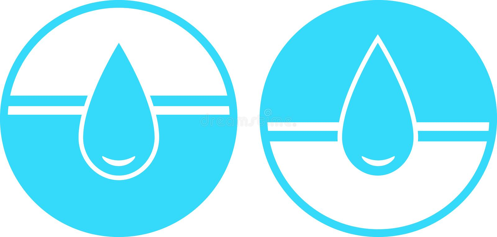Download Set of water drop sign stock vector. Image of image, cool - 27350591