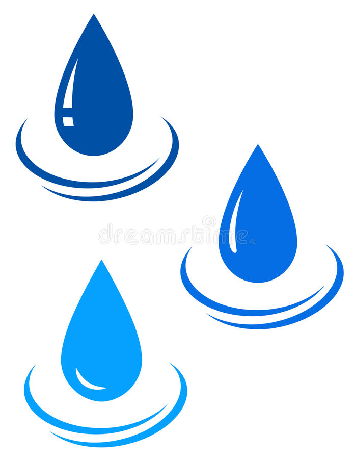 Set of water drops royalty free illustration
