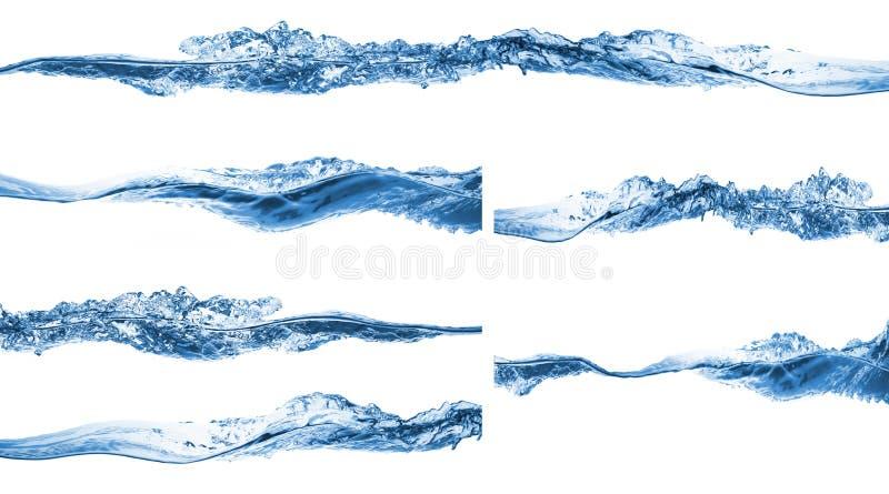 Set of water splashing royalty free stock image