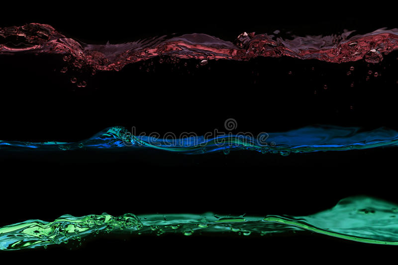 Download Set Of Water Waves Pink, Blue And Green Colors Stock Photo - Image: 28509908