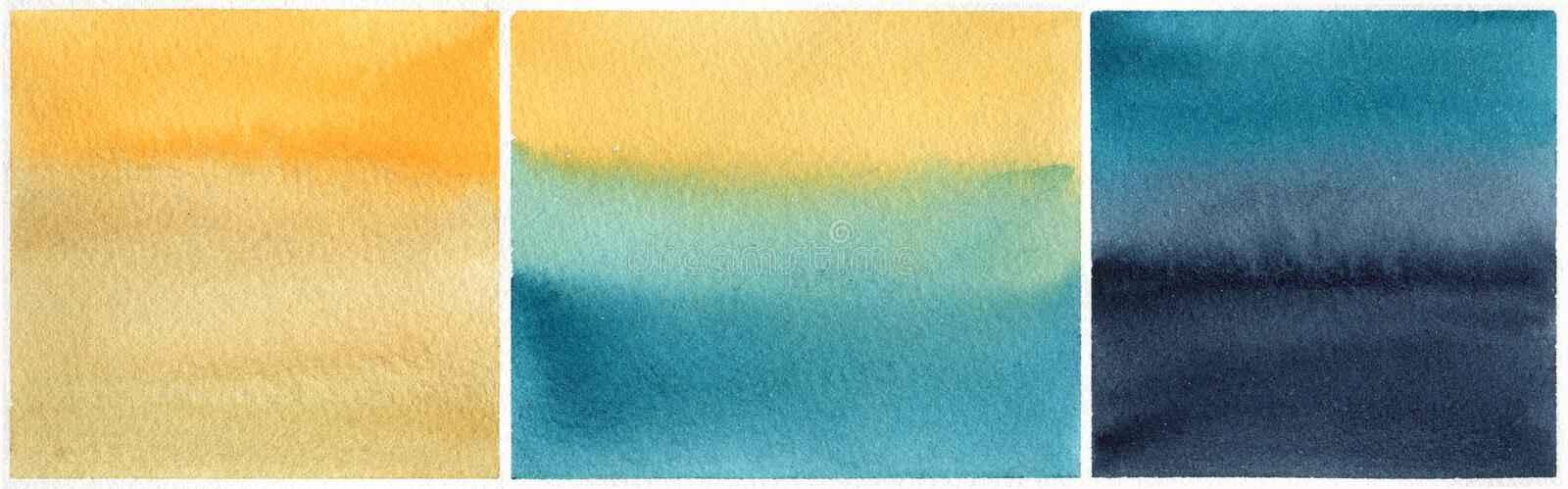 Set of watercolor backgrounds royalty free stock image