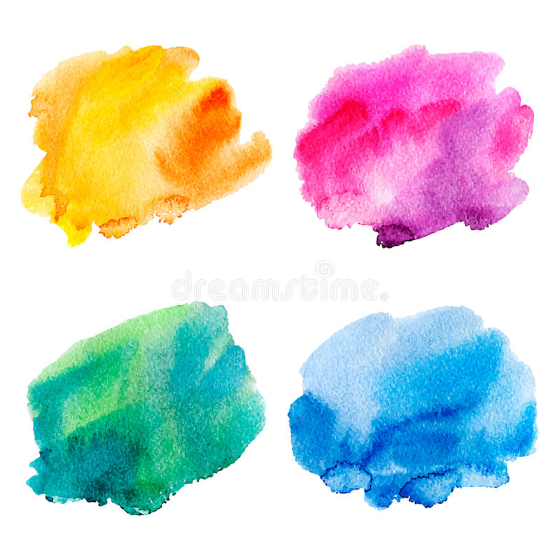 Set of watercolor stains. vector illustration