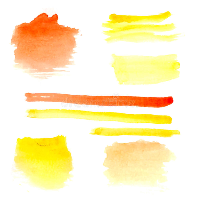 Set of watercolors on white background vector illustration