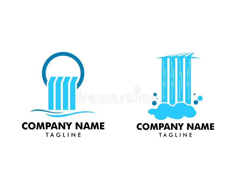 Set of Waterfall logo icon vector illustration. Waterfall logo royalty free illustration