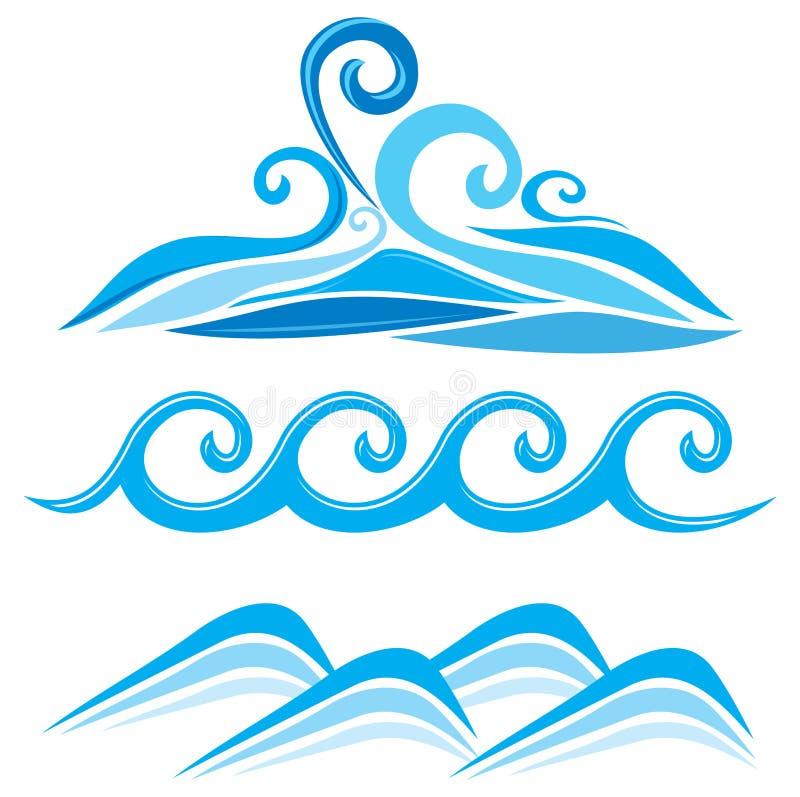 Download Set of wave symbols stock vector. Illustration of graphic - 29690270
