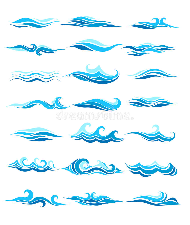 Set waves. From element of the design