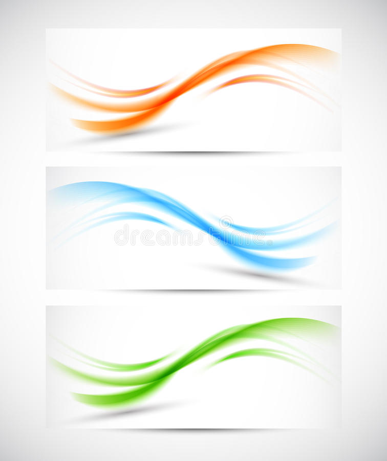Download Set of wavy banners stock vector. Illustration of abstract - 33620740