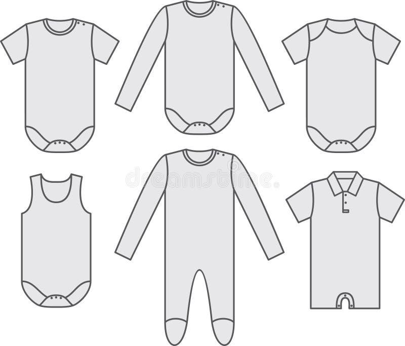 set wear för barn royaltyfri illustrationer