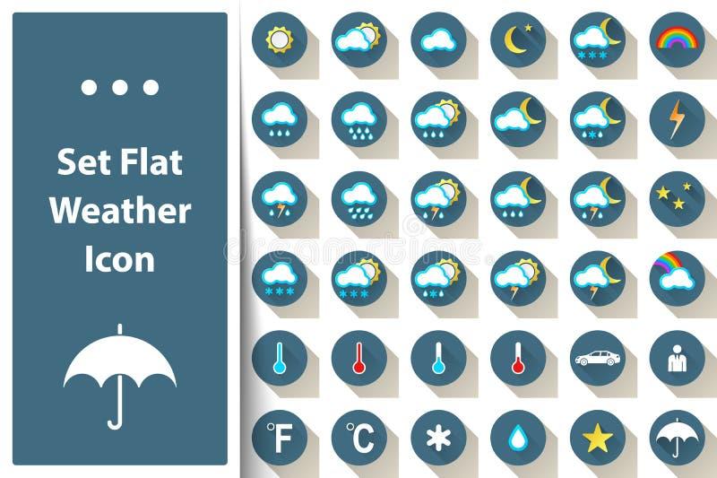 Set weather icon cloud, sun, rain, star, thermometer, snow. Set weather icon cloud, sun, rain, star thermometer snow Vector eps 10 royalty free illustration