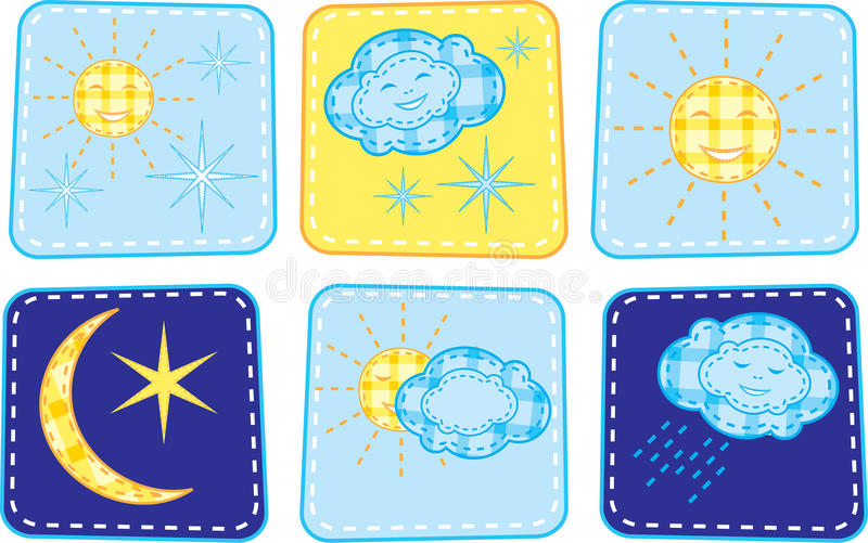 Download Set of weather icons stock vector. Image of star, couple - 12703855