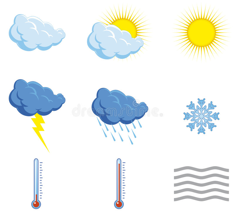 Download Set Weather Icons Stock Photography - Image: 4861972