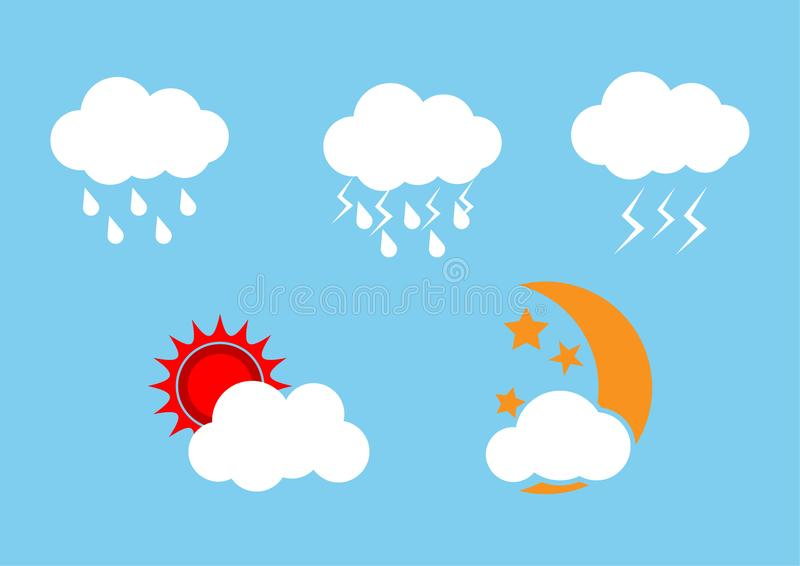 Set of weather icons season. vector illustration royalty free illustration