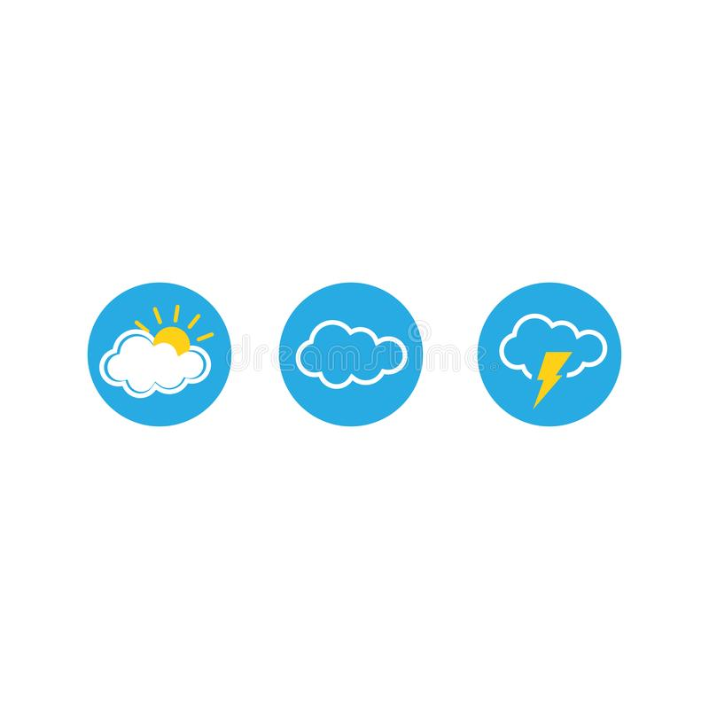 Set of weather vector icons. Vector illustration. EPS 10 vector illustration