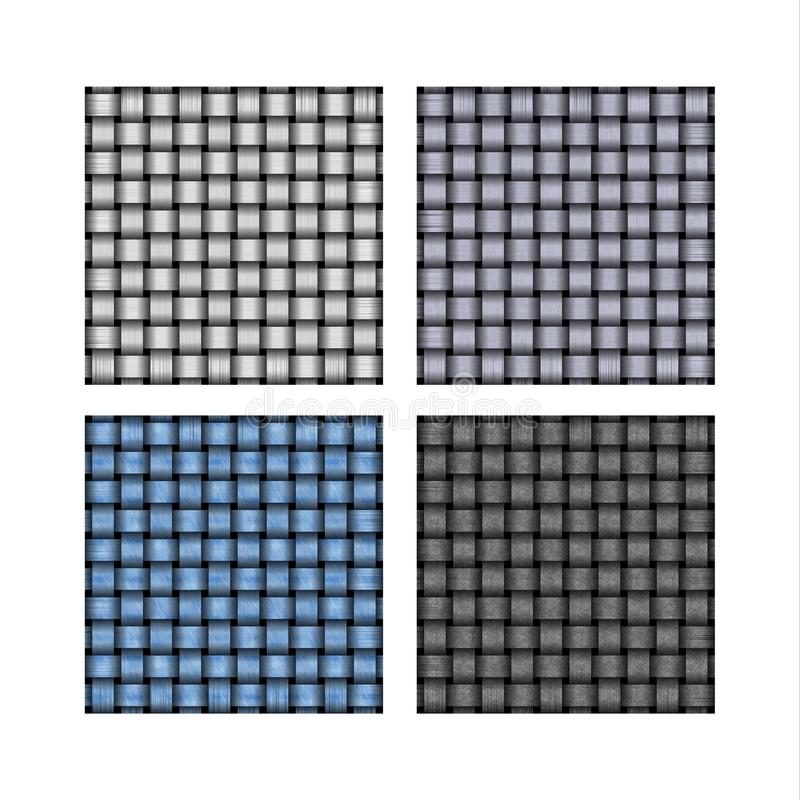 Set Of Weave Background Patterns Stock Images