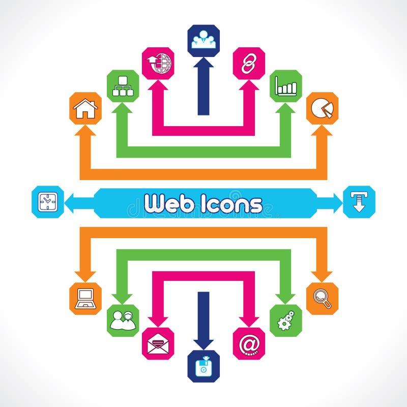 Set of Web Icons. Unique