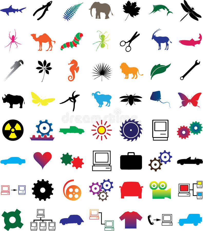 Set web-icons - 3 stock illustration