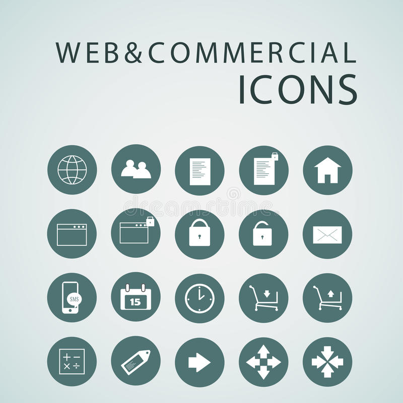 Set of web icons for business, finance and communication stock illustration