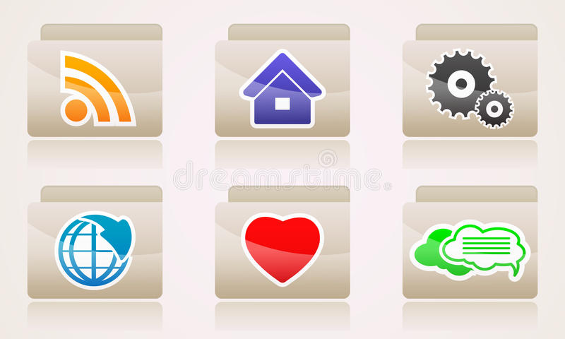 Download Set Web Icons Of Folders Business Internet Stock Vector - Image: 40007785