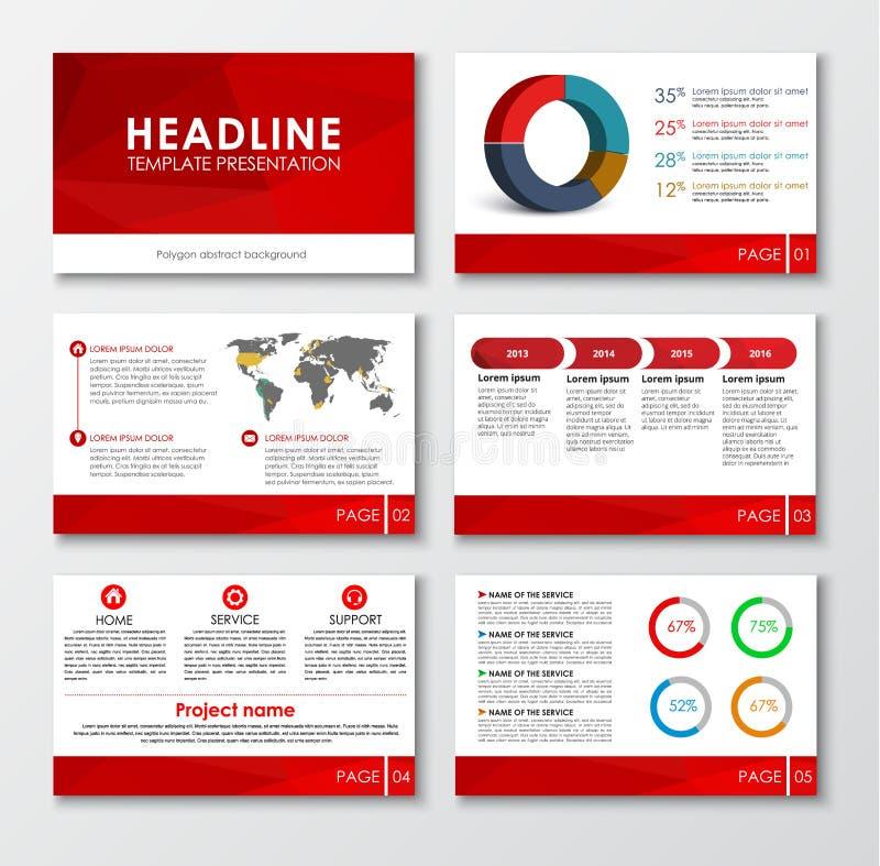 Set of web presentation slides royalty free illustration