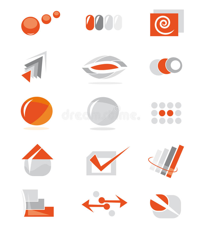 Set of website elements stock image