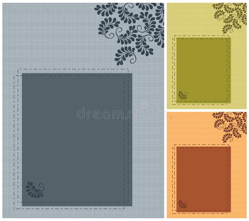 Download Set wedding invitation stock vector. Illustration of golden - 28387344