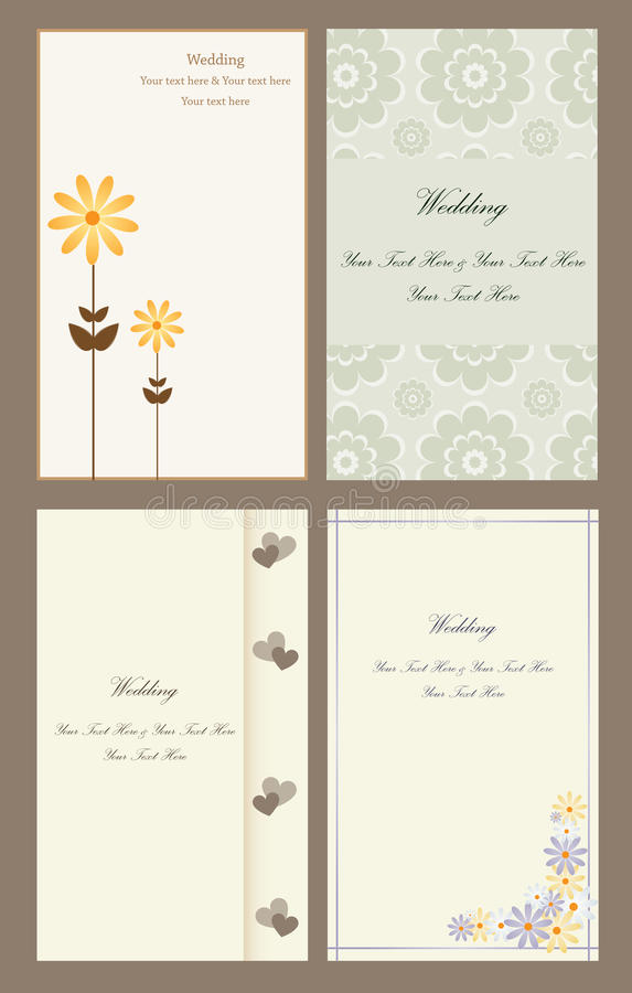 Free Set Wedding Invitation Cards Royalty Free Stock Photography - 12112977