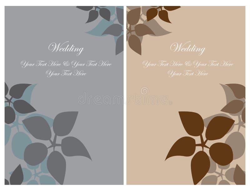 Set wedding invitation cards stock image
